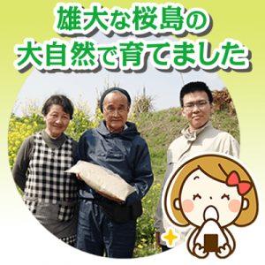 雄大な桜島の大自然で育てました
