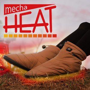〜1分で足元がポカポカに〜冬のアウトドアや屋内で使える「ヒーター搭載電熱シューズ mecha HEAT」